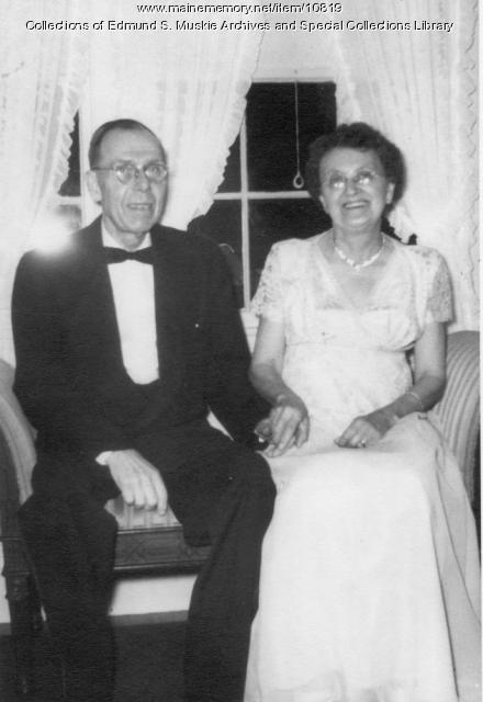 Parents of Edmund S. Muskie, Blaine House, ca. 1955