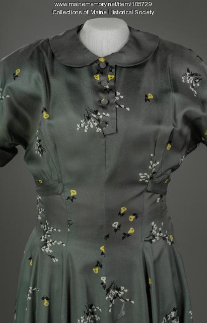 Cap sleeved dress, ca. 1955