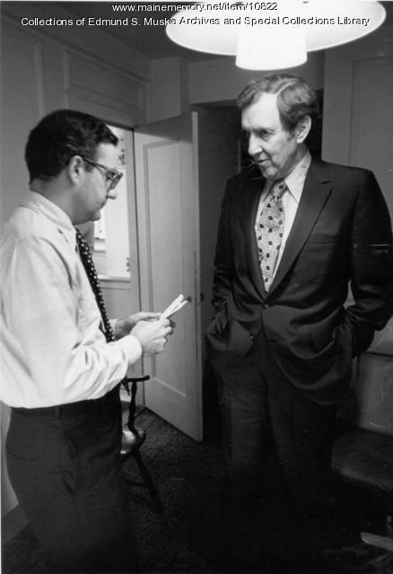 Edmund S. Muskie with George Mitchell, 1972