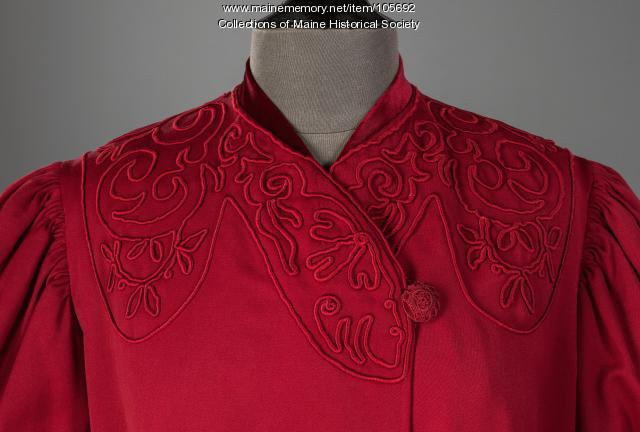 Mary King Scrimgeour's collarless coat, Lewiston, ca. 1900