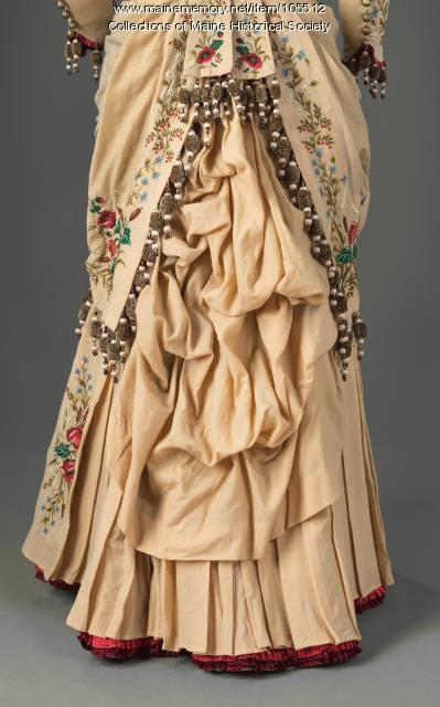 Hannah P. Adams' embroidered dress, Belfast, ca. 1880