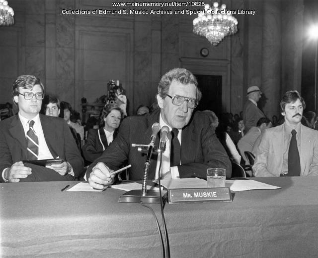 Edmund S. Muskie confirmation hearing, Washington, D.C., 1980