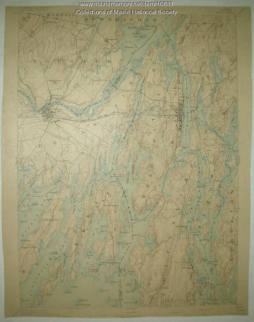 Topographic map, Bath sheet, 1894