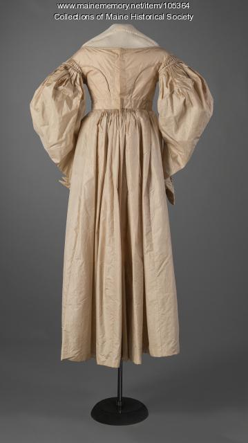 Gigot sleeve dress, ca. 1830