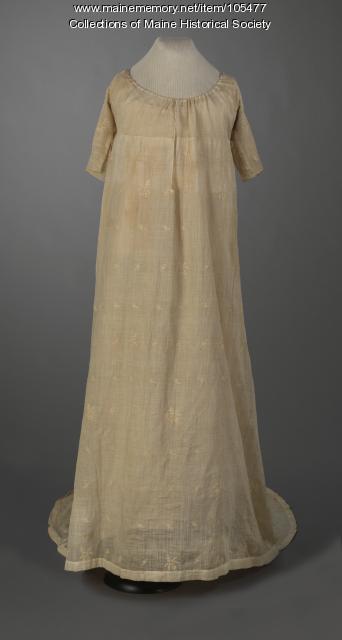 "Lucia Wadsworth's ""assembly dress,"" Portland, ca. 1799"