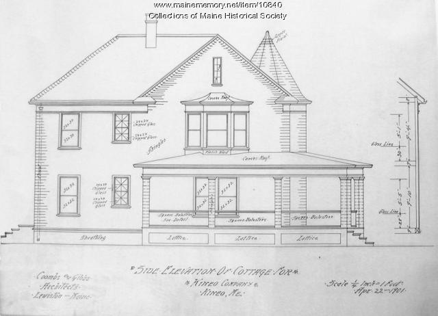 Cottage plan, Kineo Company, 1901