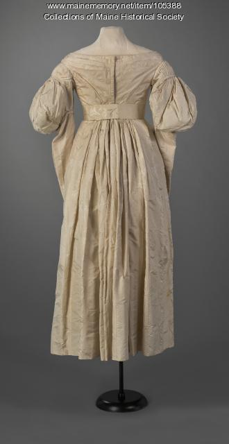 Gigot (leg-of-mutton) sleeve  dress, Portland, ca. 1834