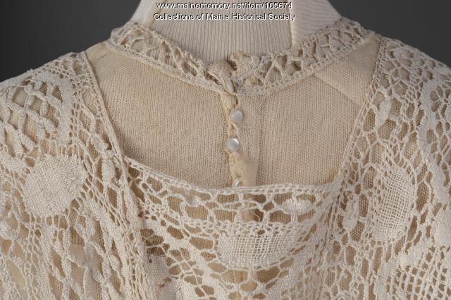 Lace two-piece summer dress, ca. 1914