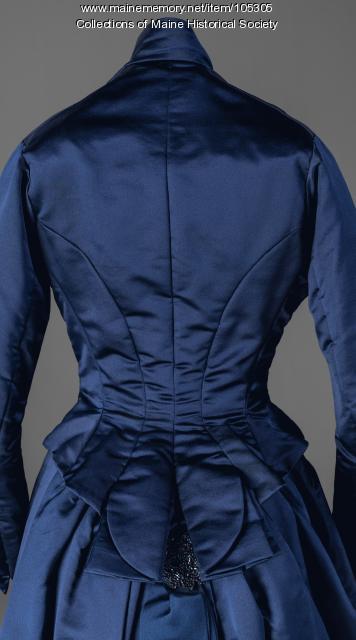 Annie Corbett's beaded fancy occasion dress, Portland, ca. 1880