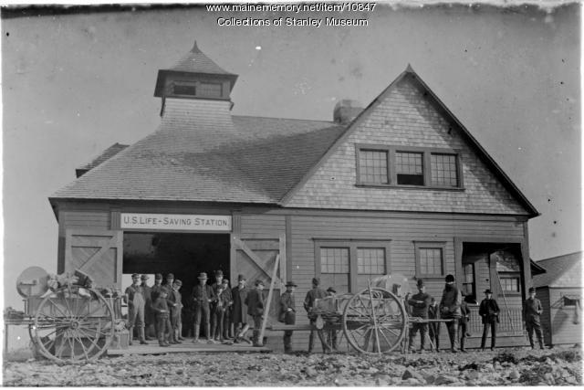 U.S. Life-Saving Station, Wallis Sands, New Hampshire, ca. 1895