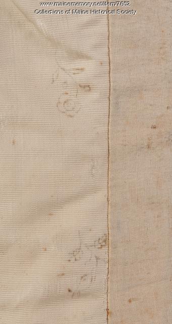 Samuel Freeman's waistcoat, Portland, ca. 1786