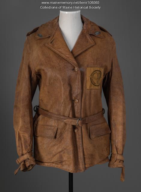 Queen City Flying Club jacket, Bangor, ca. 1930