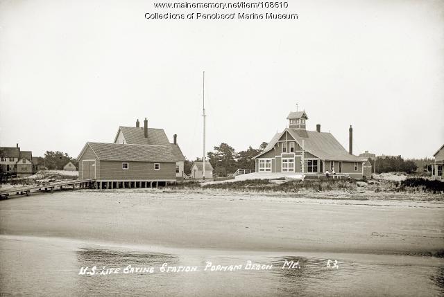 Life saving station, Popham Beach, ca. 1910