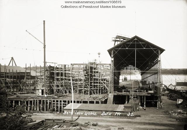 Bath Iron Works. Bath, ca.  1910