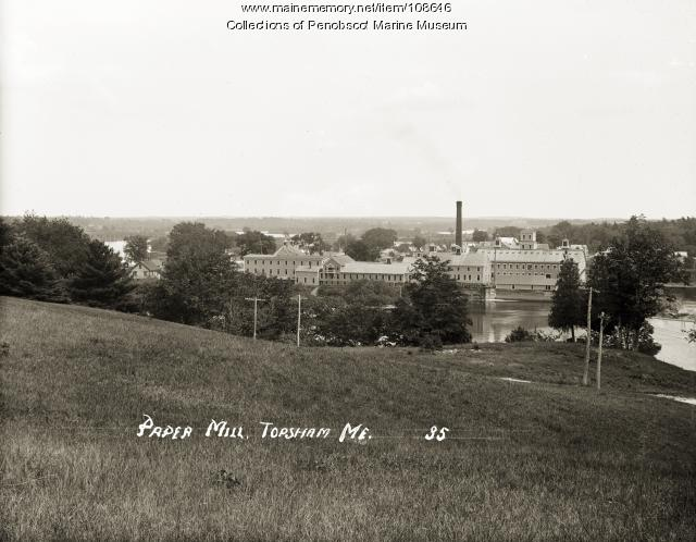 Paper mill, Topsham, ca. 1910