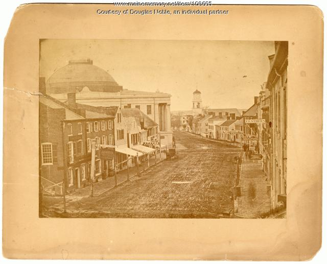 Middle Street, Portland, ca. 1850