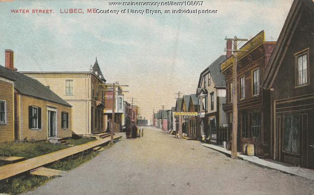 Water Street, Lubec, ca. 1911
