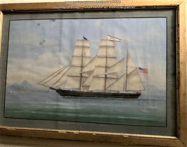"Barque ""Aberdeen"" of Searsport Capt. N. Dunbar Naples 1874"