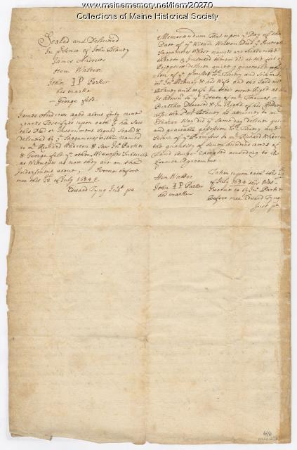 Indian deed granting lands to Richard Wharton, 1684