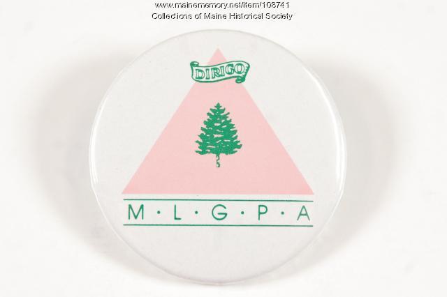 Maine Lesbian/Gay Political Alliance Pin, Portland, ca. 1994