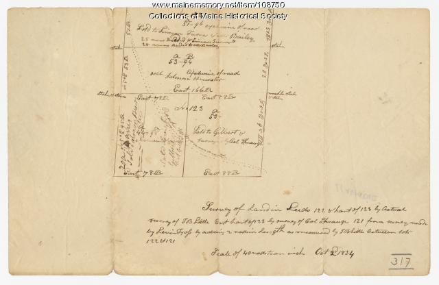 Survey of Land, Leeds, 1834