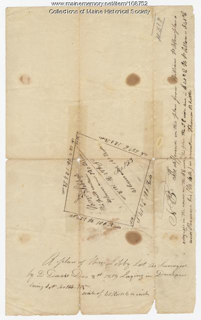 Plan of William Libby's lot, Durham, 1819