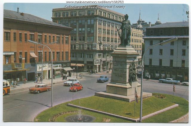 Monument Square, Portland, ca. 1963