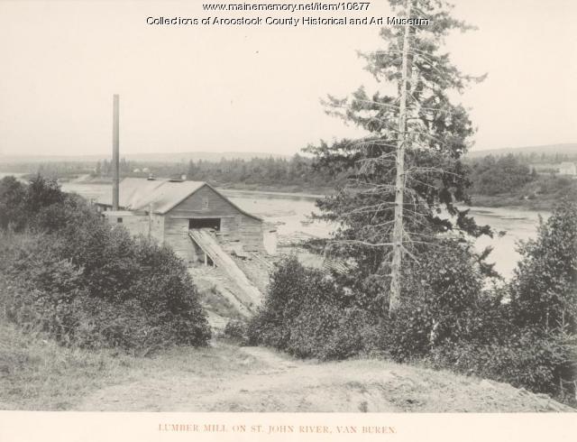 Saw Mill, Van Buren, ca. 1890