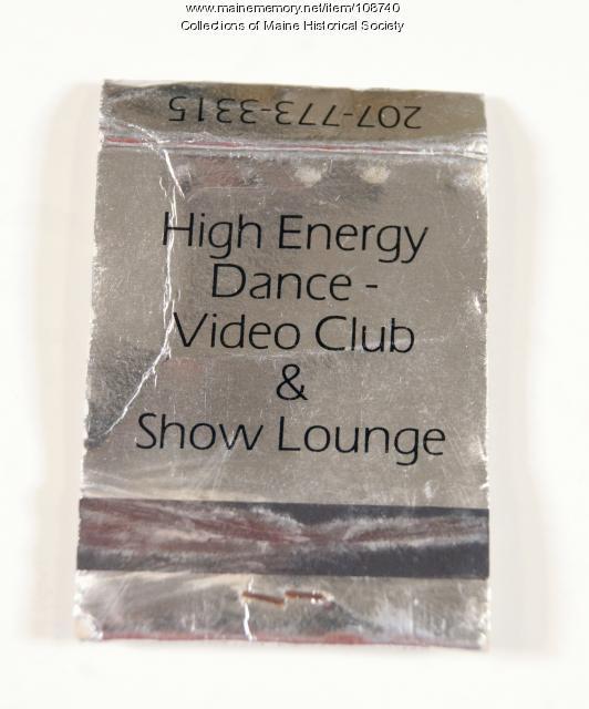 Underground Nightclub matchbook, Portland, ca.1990