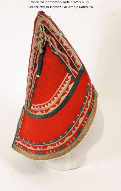 Wabanaki peaked hat, ca. 1820