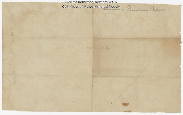 Map of lot no. 7, 135 acres on Madison Rd., Skowhegan, ca. 1760