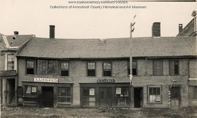 South side of Market Square, Houlton, ca. 1893