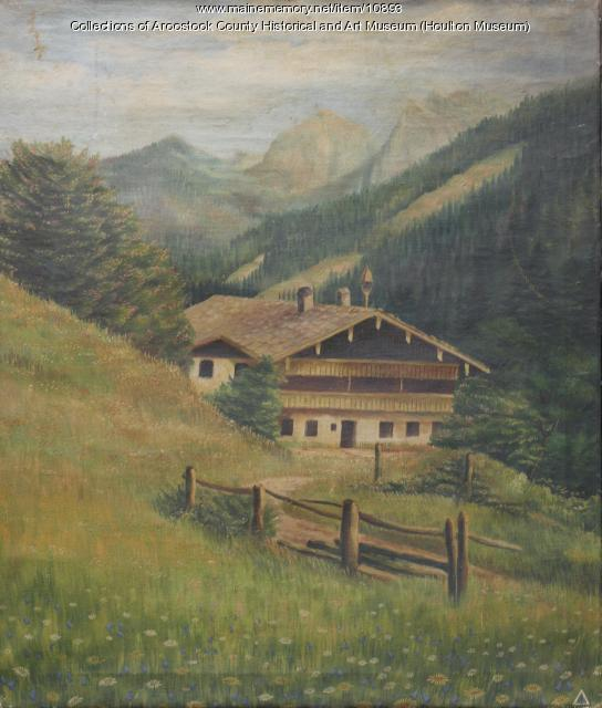 Painting by prisoner of war, Camp Houlton, 1945