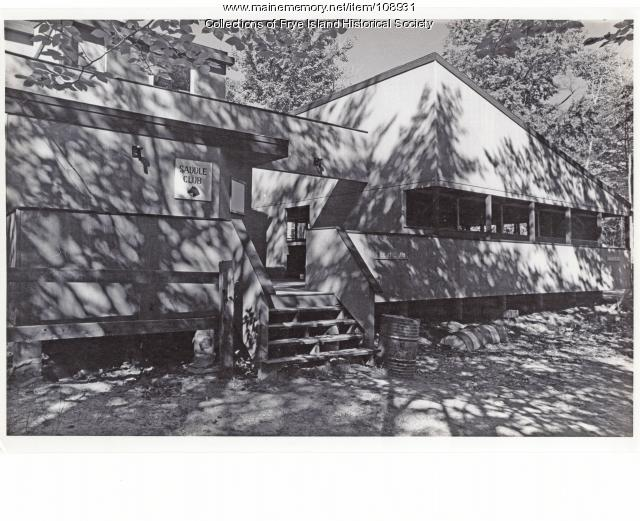 Stable Club on Paddock Circle, Frye Island, ca. 1970