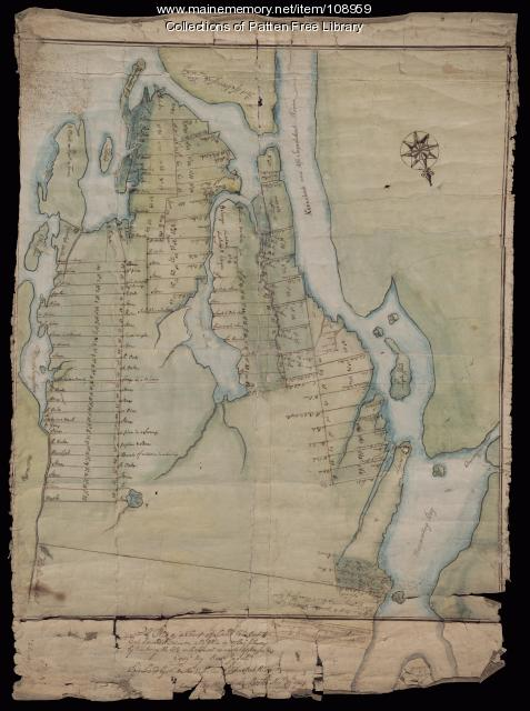 Plat of a tract of land in Woolwich, 1751