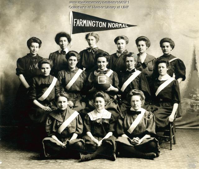 Farmington State Normal School women's basketball team, 1910