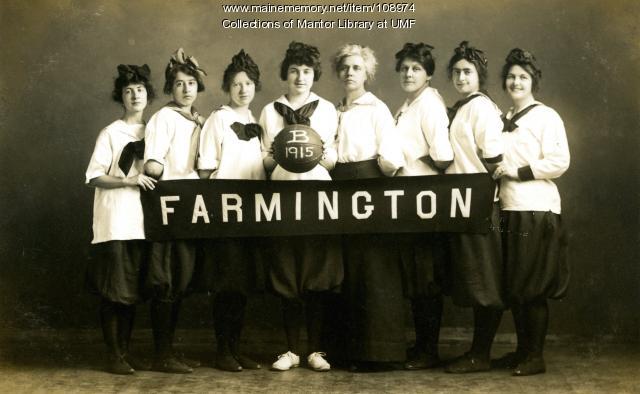 "Farmington State Normal School women's basketball ""B"" team, 1915"