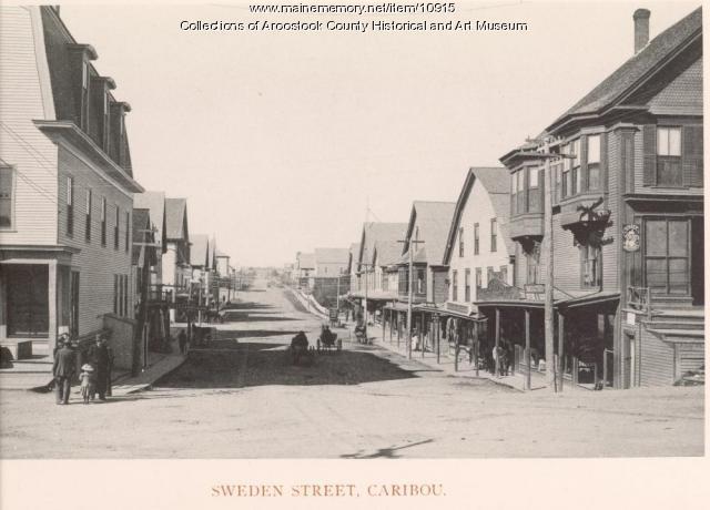 Sweden Street, Caribou, ca. 1895