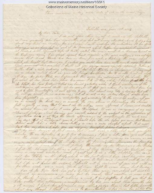 Lydia Patterson letter to Mary Patterson, June 15, 1851
