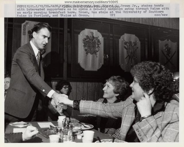 California governor campaigning, 1980