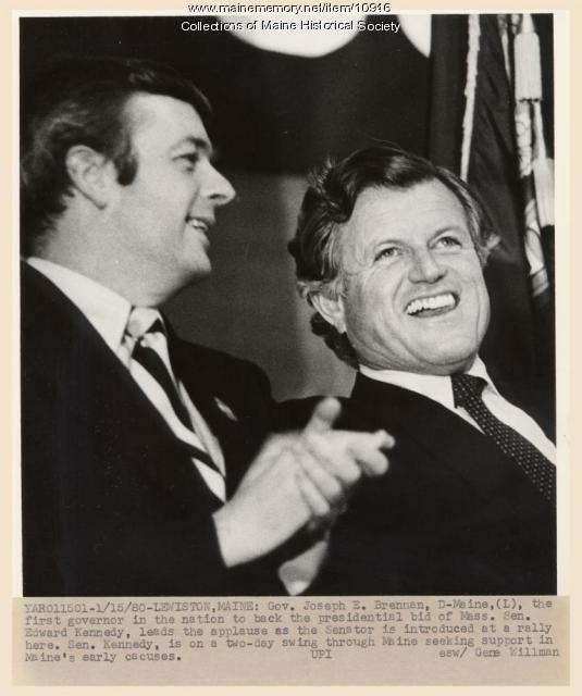 Senator Kennedy on campaign tour, 1980