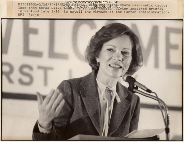 First Lady Rosalyn Carter campaigning, 1980