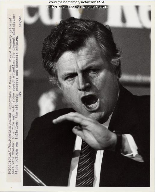 Edward Kennedy campaigning, Portland, 1980