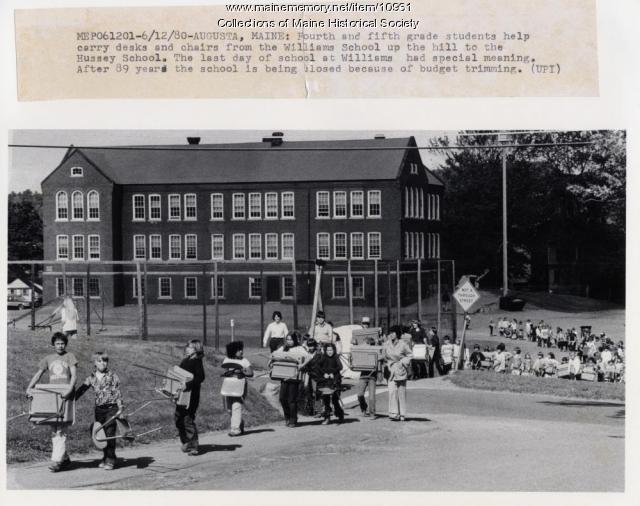 Williams School closing, Augusta, June 1980