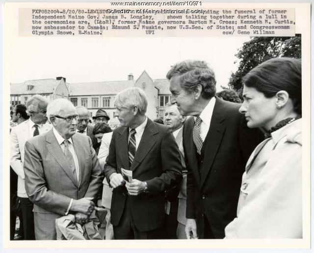 Politicans at Longley funeral, August 20, 1980