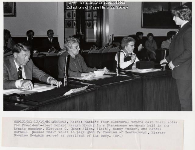 Casting electoral votes, 1980