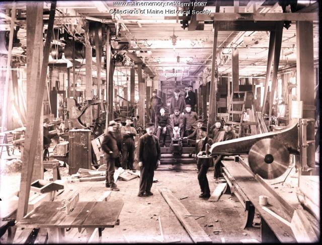 Carpentry Shop, Portland Company, ca. 1880