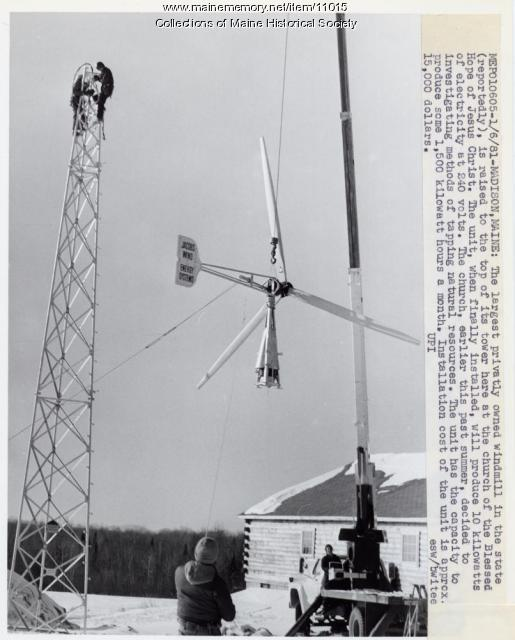 Wind power, Madison, 1981
