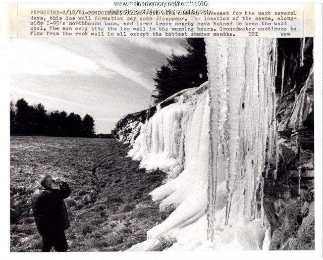 Wall of ice, Bowdoinham, 1981