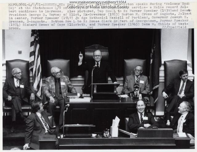 Rep. Louis C. Jalbert, D-Lewiston, 1981